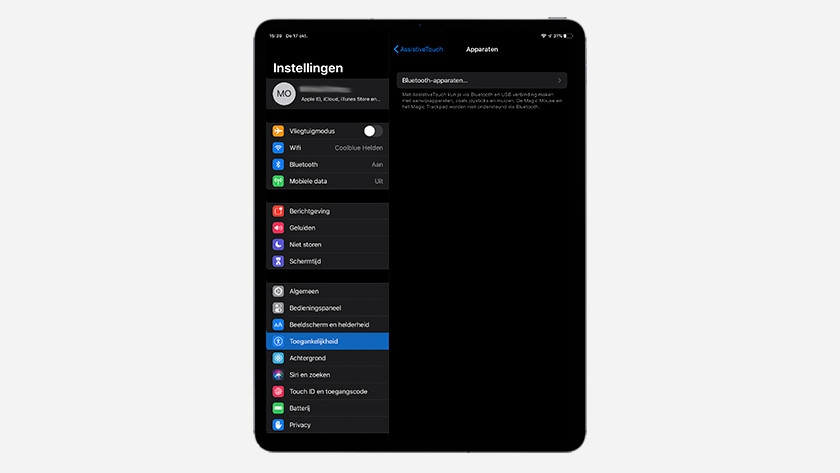 Connect a Bluetooth mouse to your iPad