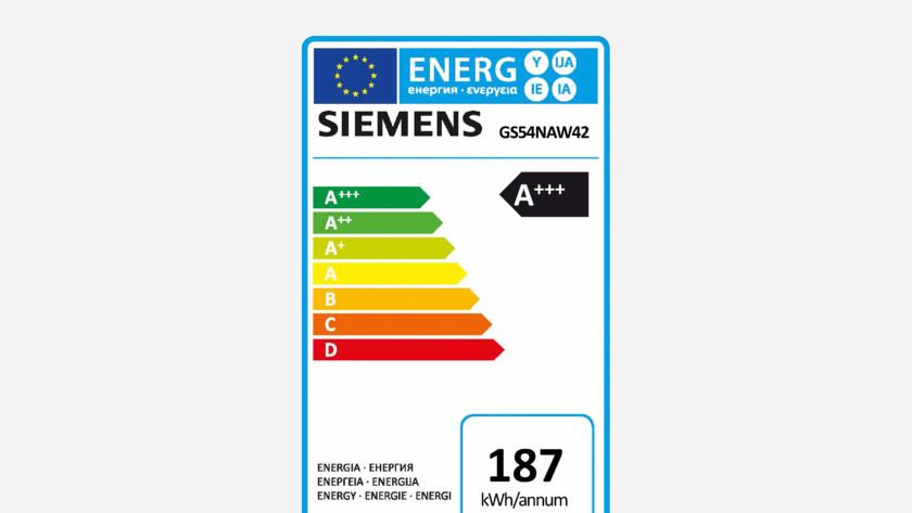 Energy label freezer