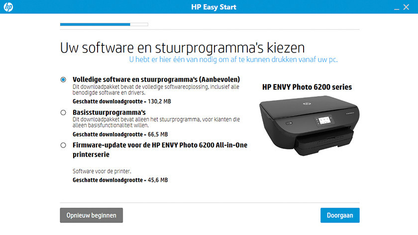 Software installeren voor HP Envy 6234