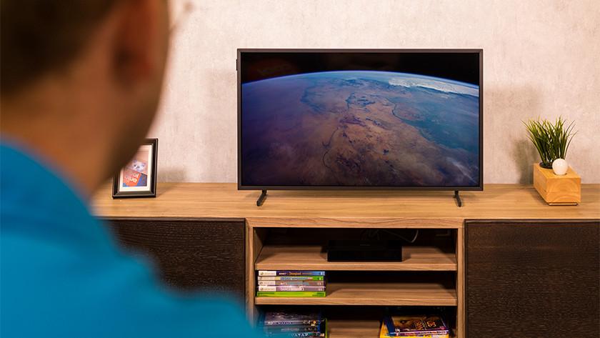 De QLED beeldkwaliteit van de Samsung The Frame 32 inch tv