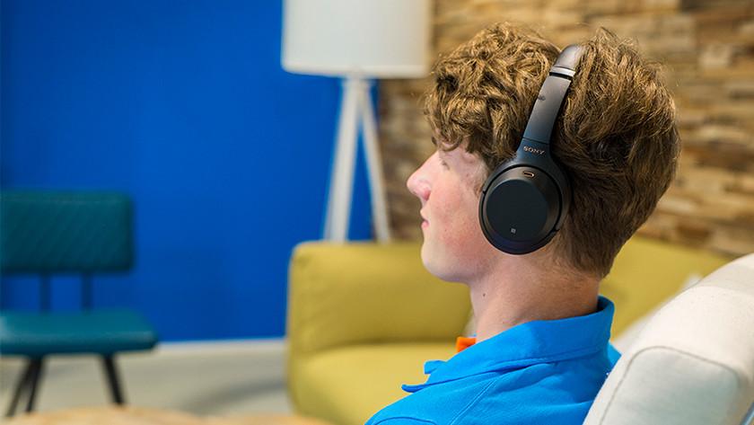Headphones in living room