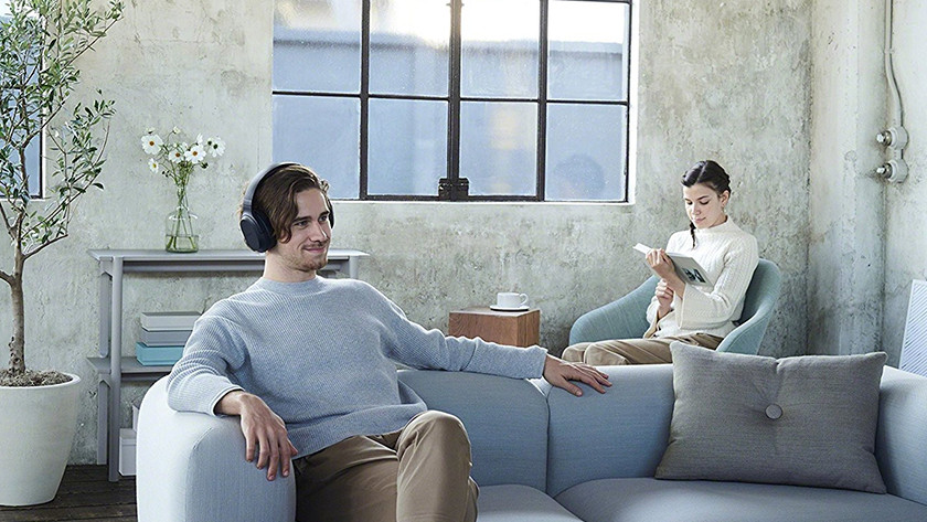 Watching television with headphones