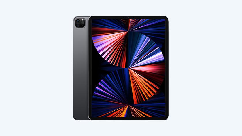 Voorkant achterkant Apple iPad Pro (2021) Space Gray
