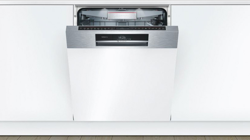Semi-integrated dishwasher