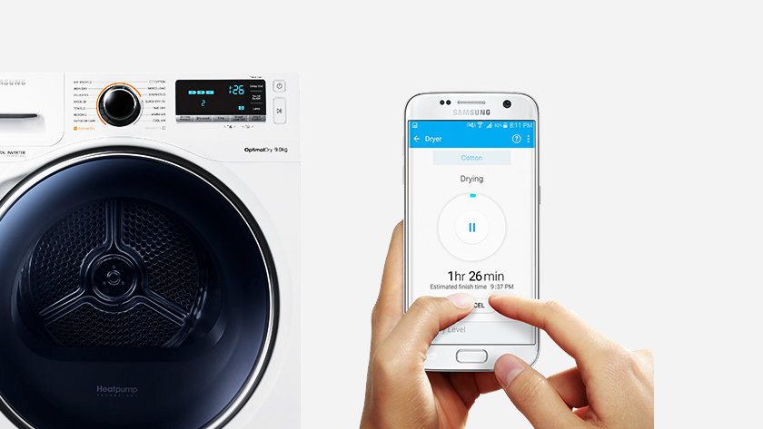 Washing machine with app controls