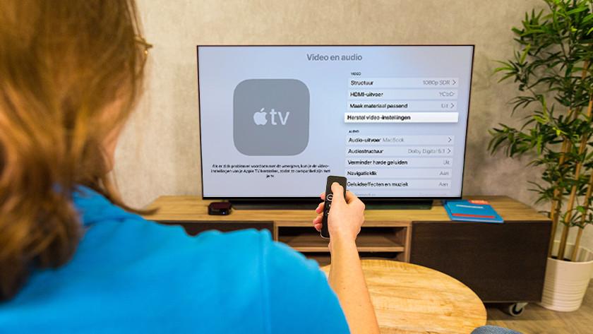 Herstel video instellingen op Apple TV