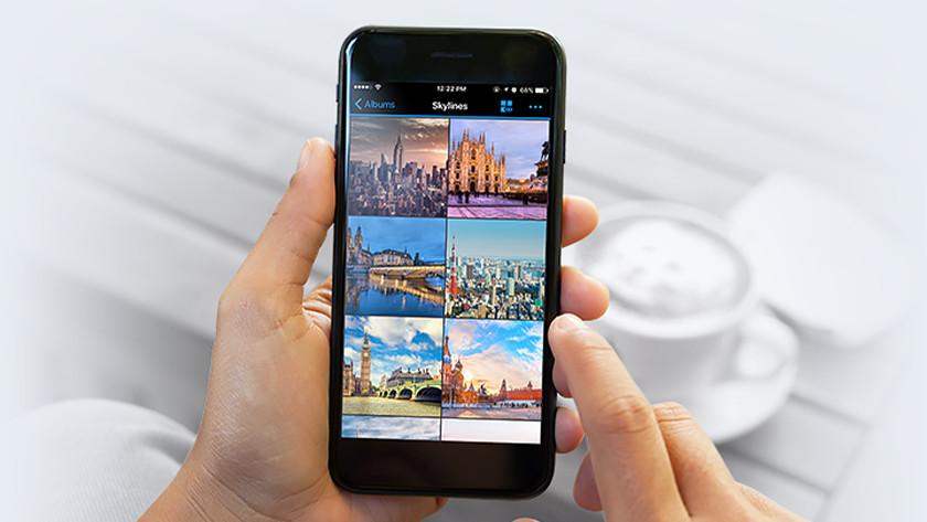 Foto album op je smartphone met NAS