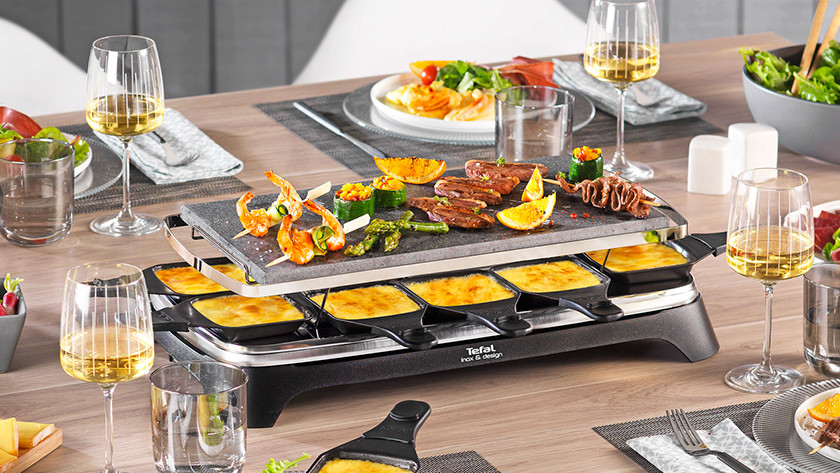 Raclette grill with stone grill
