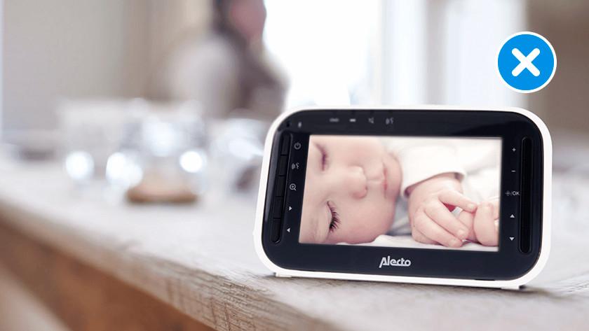 Geen camera op babyfoon
