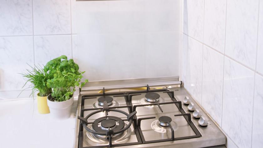 cooktop in a corner setup