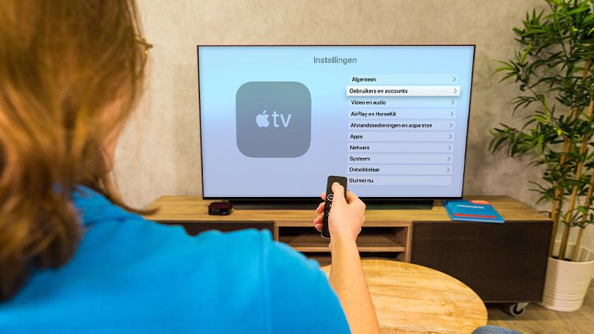 kies je Apple TV instellingen