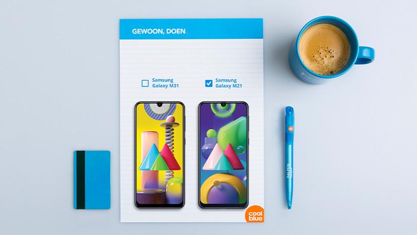 Samsung M21 vs M31 battery screen