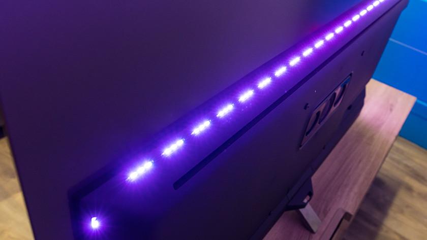 Ambilight van de Philips OLED855 OLED tv