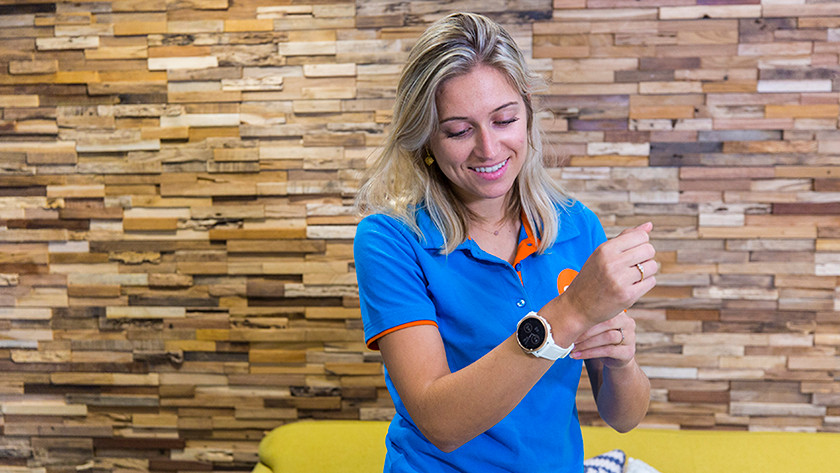 Expert with watch