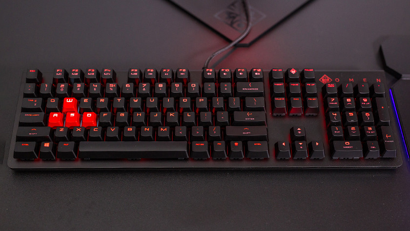 HP Omen gaming keyboard.