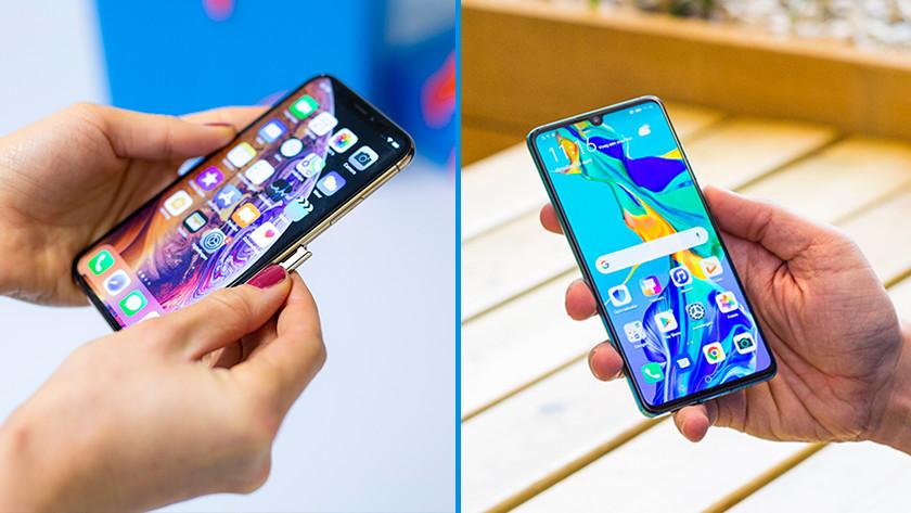 Telefoon besturingsysteem android of ios