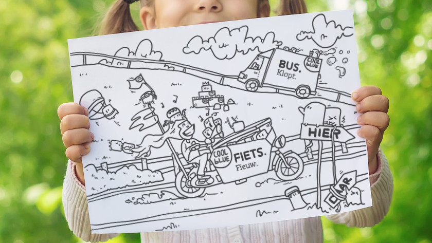 Coloring page Coolblue