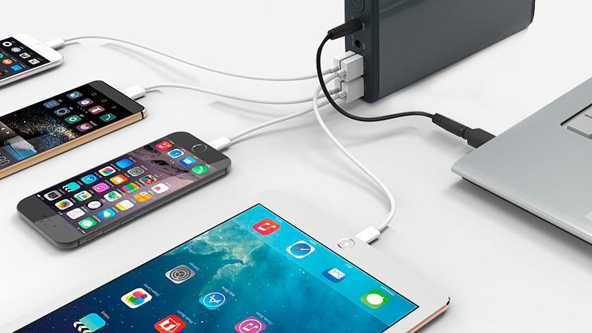 Charging a tablet with a power bank