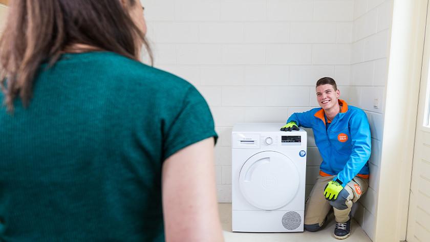 Wasdroger aansluitservices
