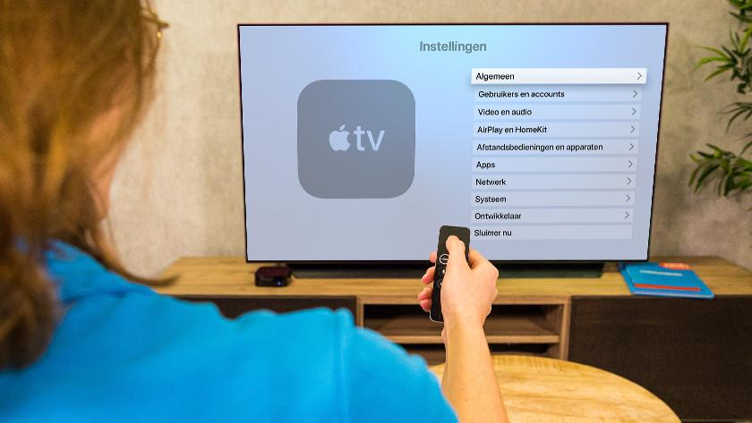 Open de instellingen van Apple TV en ga naar 'Algemeen'.