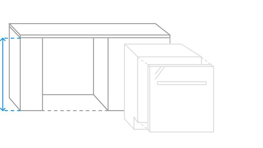 niche height dishwasher