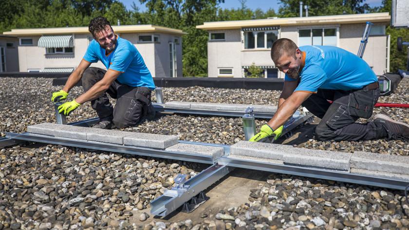 Montagesysteem plat dak schuin dak kosten
