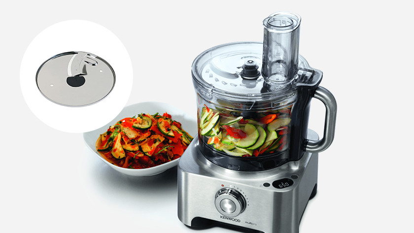 Food processor with blade