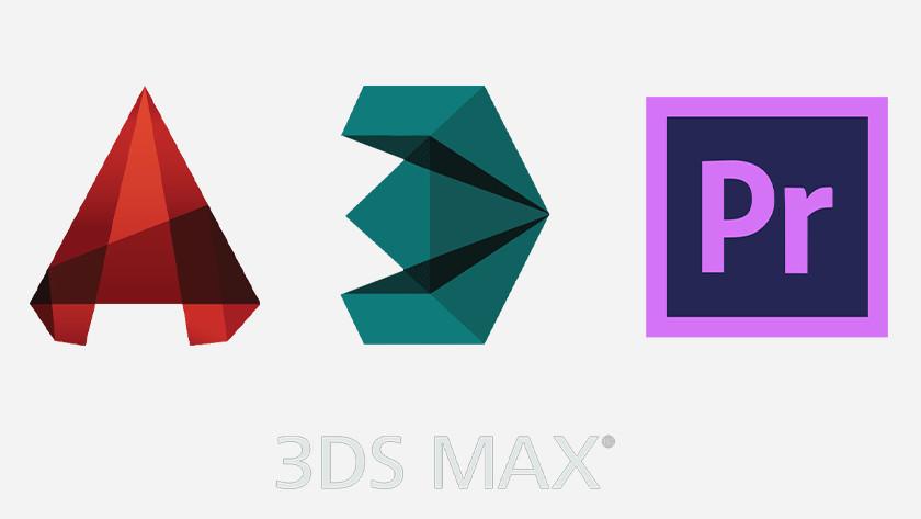 Icons van programma's die draaien op workstations.