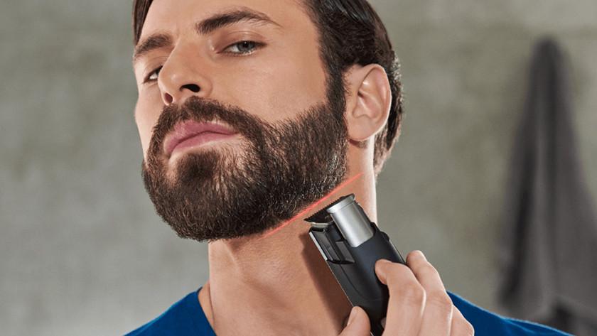 Een volle baard trimmen met een Philips baardtrimmer