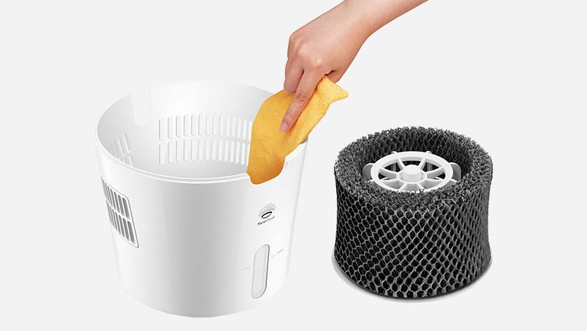 Luchtbevochtiger schoonmaken