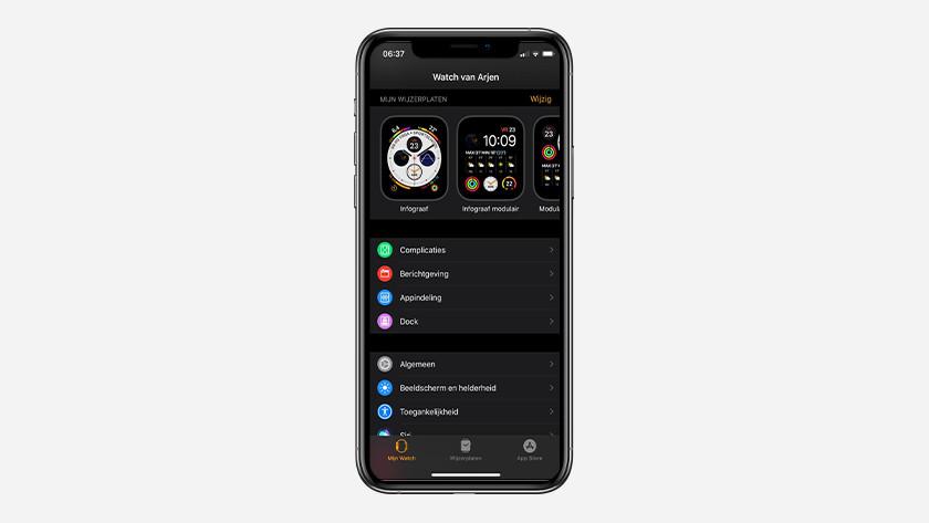 Open de Apple Watch-app op je iPhone