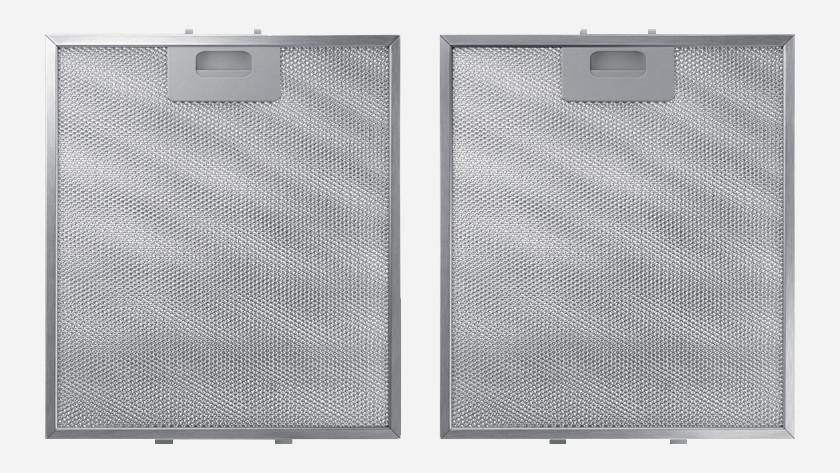 Metal filters range hood