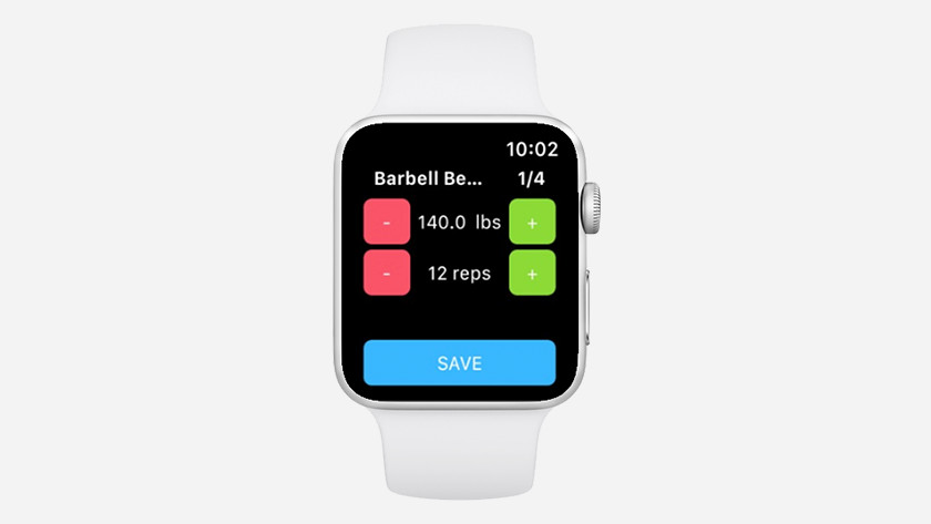 Apple Watch weights sets of repetitions