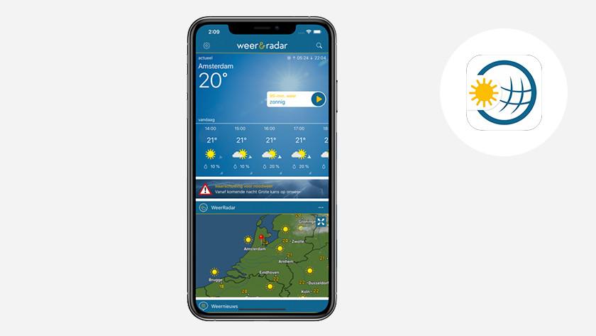 Apple iPhone iOS Weer en Radar app