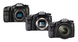 Sony spiegelreflexcamera's