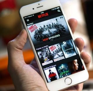 netflix op een smartphone