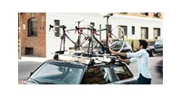 Thule fietsendragers op het dak