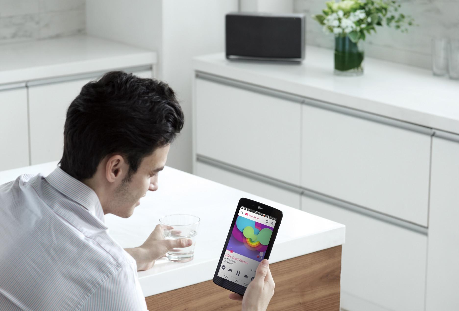 LG soundbars met Music Flow