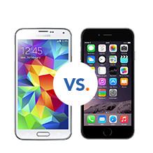 vergelijk samsung s5 en iphone 6
