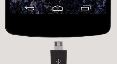 USB-poort en opladen NEXUS 5