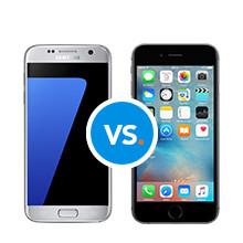 Galaxy S7 iPhone 6s vergelijk