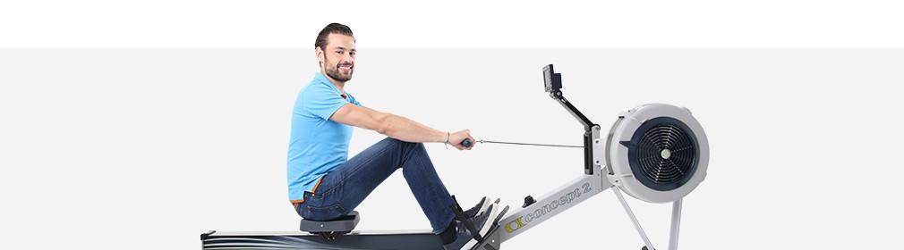 Spieren trainen roeitrainer