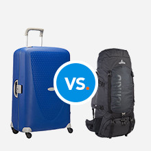Vergelijking koffer & backpack