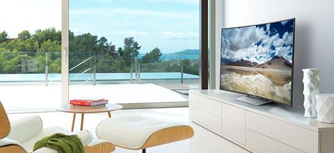 Curved televisie