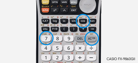 Examenstand op rekenmachine
