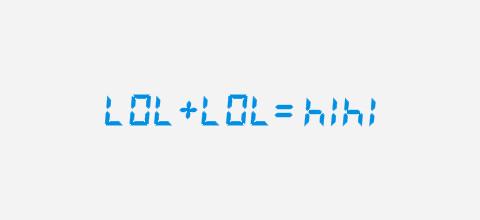 Woorden op rekenmachine