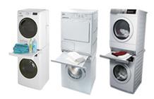 Tussenstukken voor droger op wasmachine