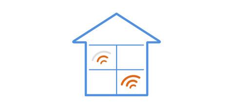 Niet overal in huis wifi bereik