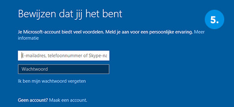 Windows installeren stap