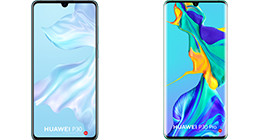 Comparison between the Huawei P30 and P30 Pro